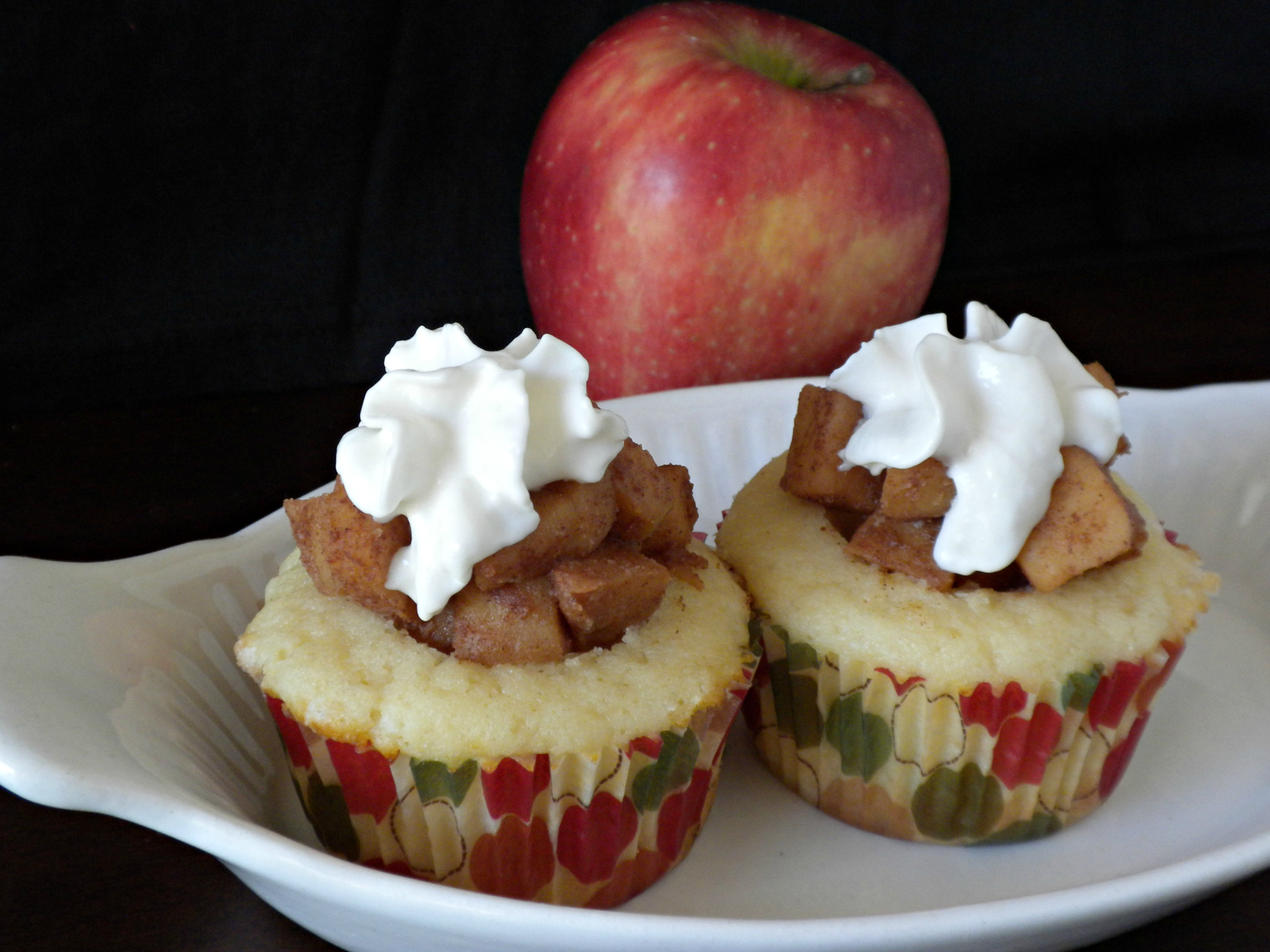 Apple Pie Cupcakes - Forks In The Road