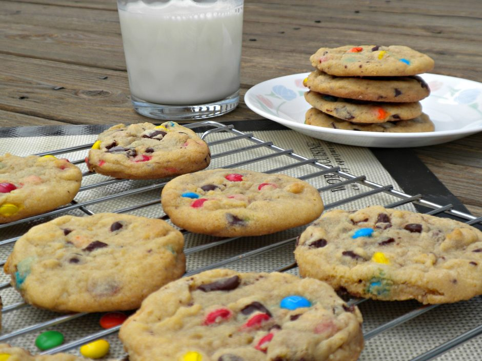 Perfectly Chewy M&M Cookies