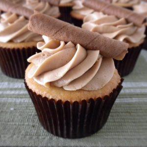 Vanilla Cupcakes with Coffee Buttercream