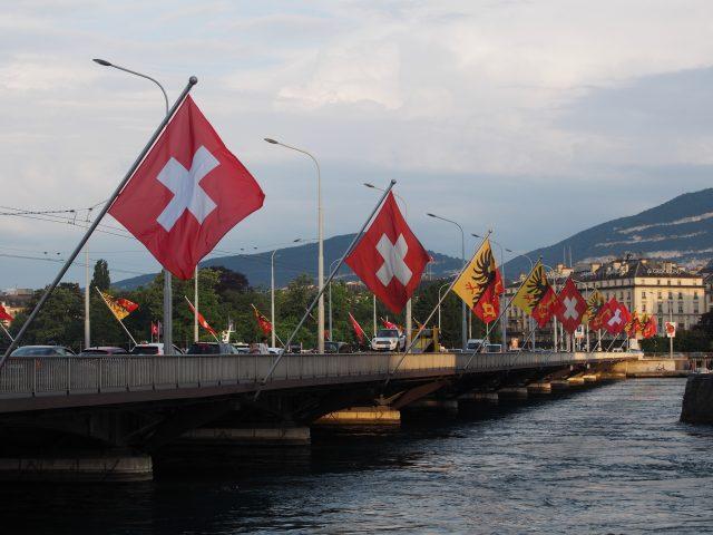 Geneva, Switzerland flag bridge