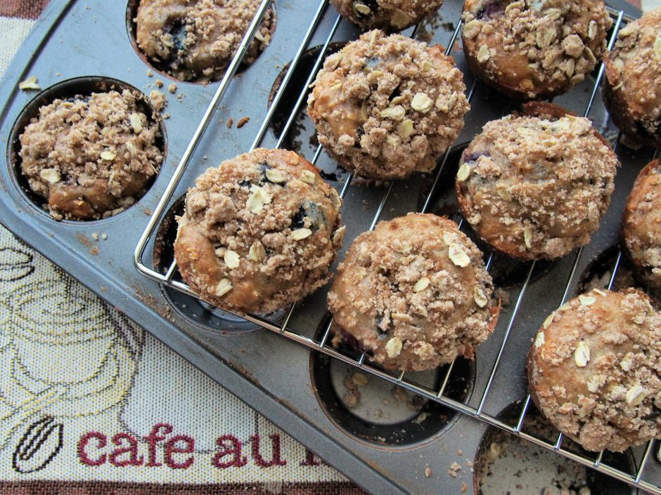 Hearty blueberry muffins