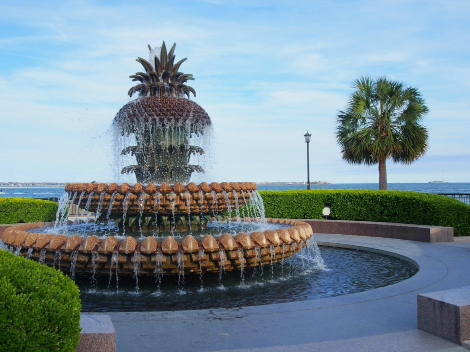 Waterfront Park Pineapple fountain