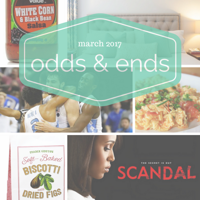 March 2017 odds & ends
