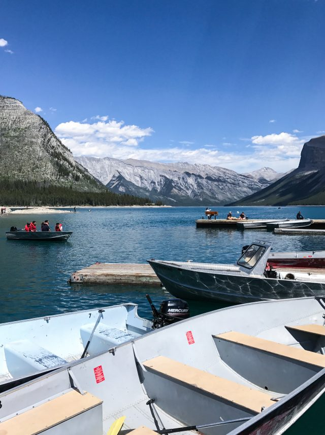 Lake Minnewanka boats